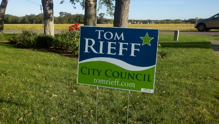 Tom Rieff Campaign SIgn
