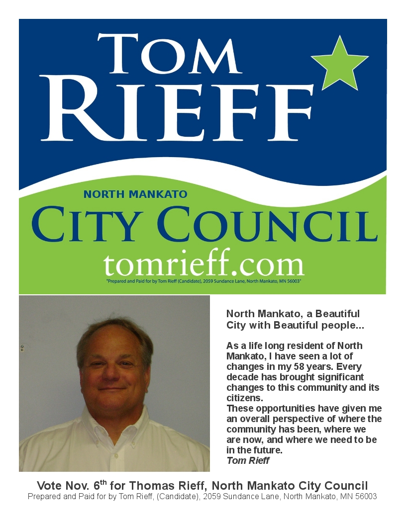 tom rieff s campaign flyer tom rieff this